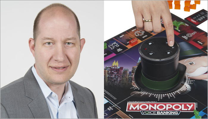 Brian Wilk, Hasbro, Monopoly Voice Banking