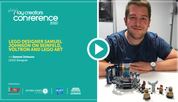 LEGO designer Samuel Johnson on Seinfeld, Voltron and LEGO Art, Play Creators Conference